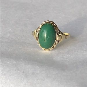 Jewelry - ⭐️14k green oval ring⭐️